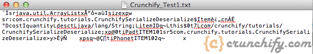 Java Serialize Deserialize an Object - Crunchify Example