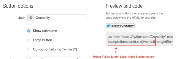 WordPress Tips: How to Load Twitter Follow Button Script Asynchronously