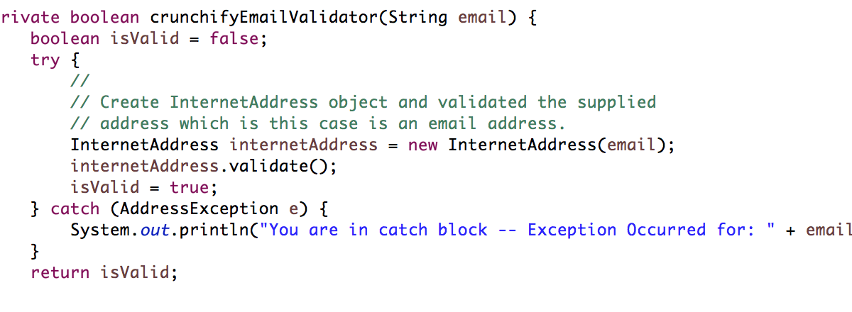 How to Validate Email Address Using Java Mail API?