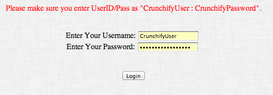 Crunchify Cookie Example- Failed Result
