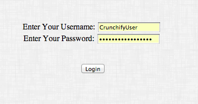 Crunchify Cookie Example - Login Test