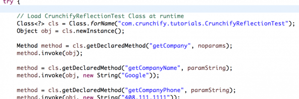 Java Reflection: How To Use Reflection To Call Java Method At Runtime