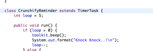 Java Timer and TimerTask – Reminder Class Tutorials Example