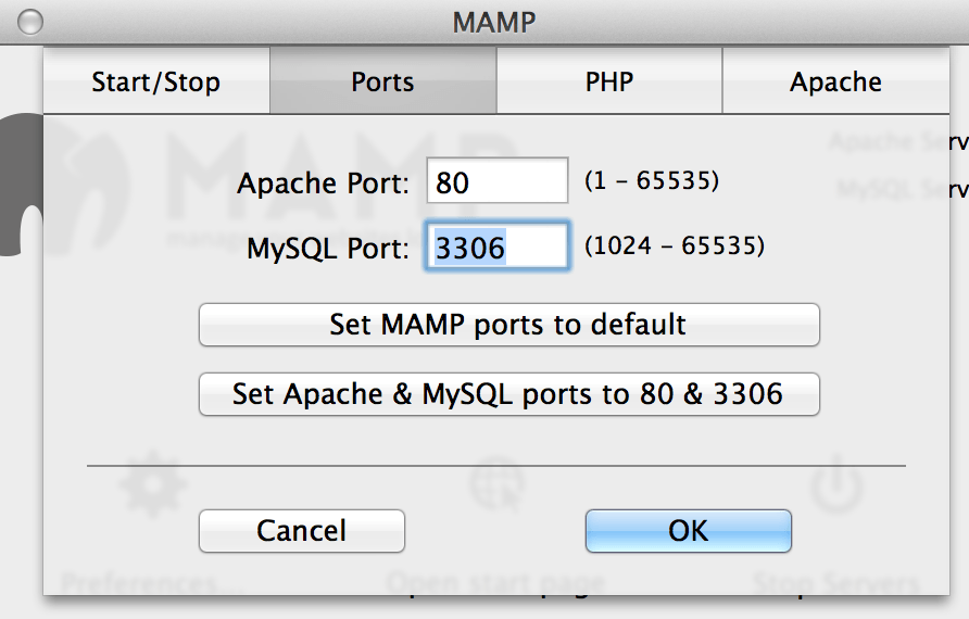 Getting Apache Port 80 to work in MAMP or MAMP Pro ...