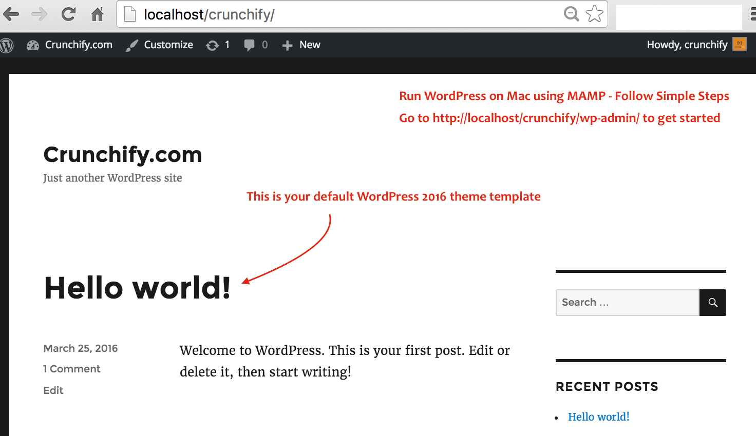 Run WordPress on Mac using MAMP - Follow Simple Steps