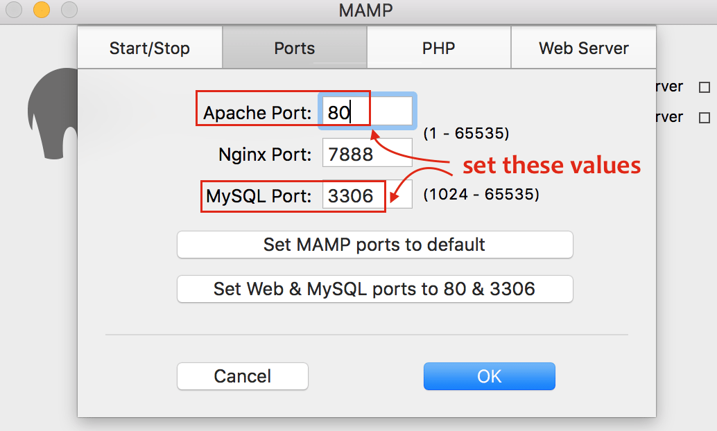 Setup MAMP Apache and MySQL Port - Crunchify Tips