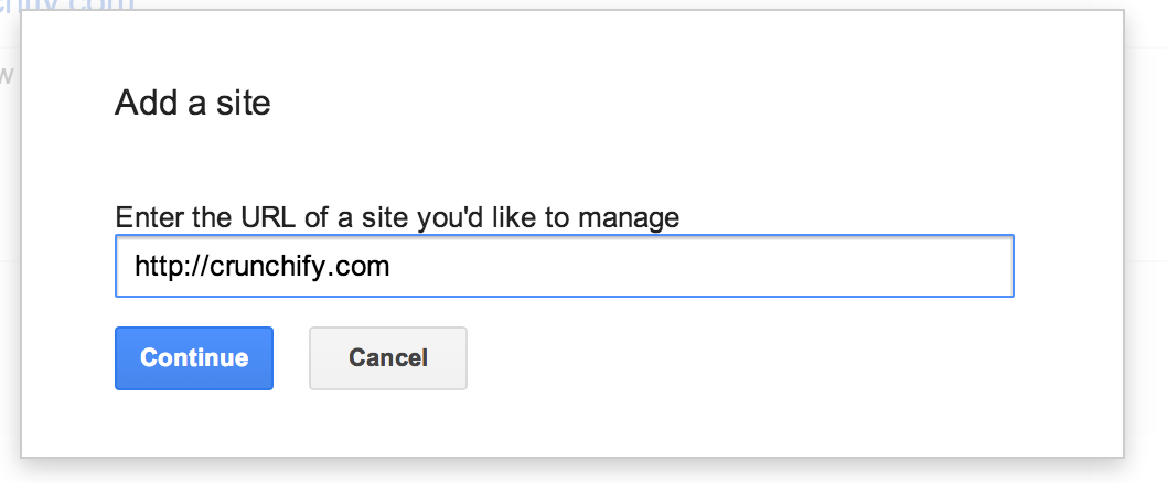 Add your site to Google Webmaster