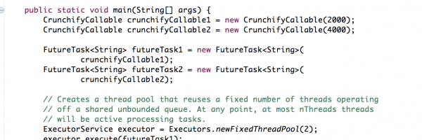 Crunchify Java FutureTask example with Callable and Runnable