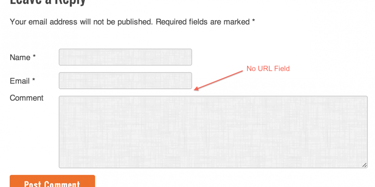 How to Remove URL / Website Field from WordPress Comment Form?