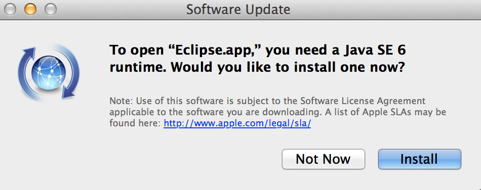 OS X Mavericks Eclipse Java Issue