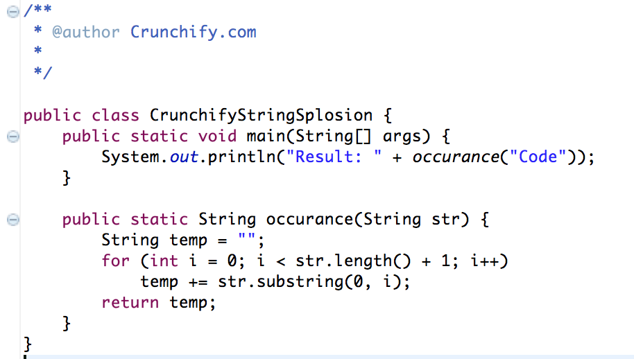 Java: Given a Non-Empty String Like -Code- Return a String Like -CCoCodCode-