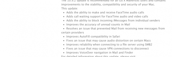 Apple Just Released OS X 10.9.2 Mavericks Update includes Facetime Audio