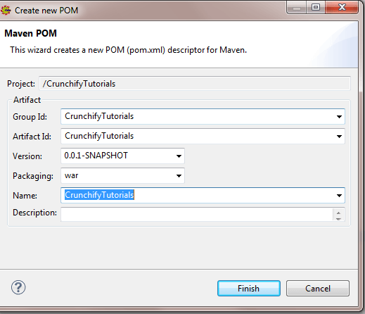Create Maven Project Wizard
