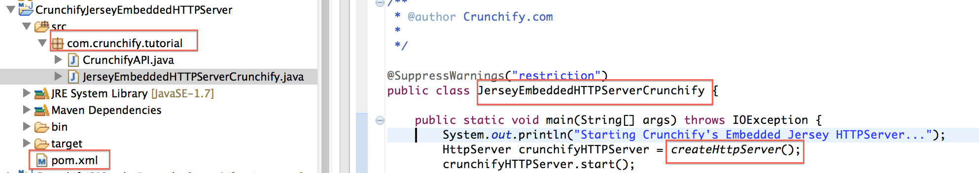 Jersey Embedded HTTP Server Example