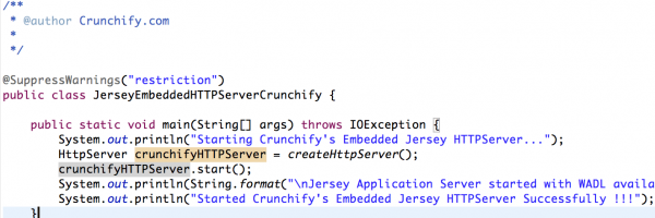 Embedded Webserver Tutorial: How to Start Embedded HTTP Jersey server during Java Application Startup