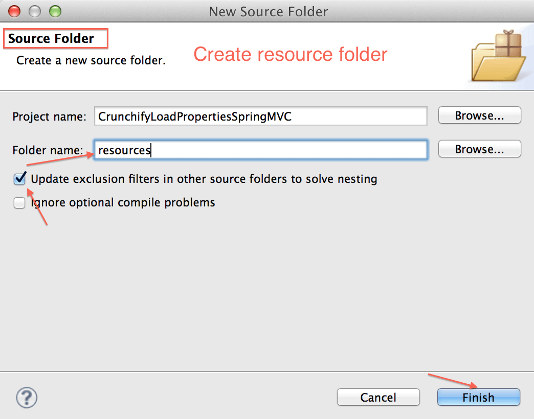 Create Resource Folder - Crunchify Spring Example