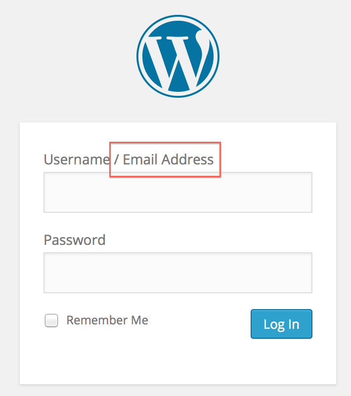 Add email address as login criteria - crunchify tips