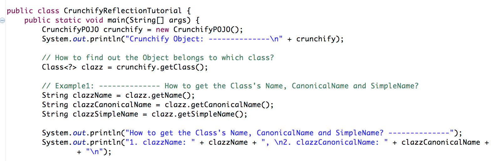 Crunchify's Java Reflection API Tutorial