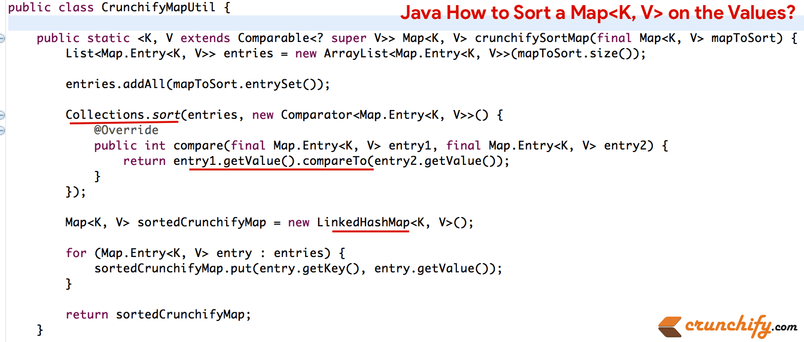 java-how-to-sort-a-map-on-the-values