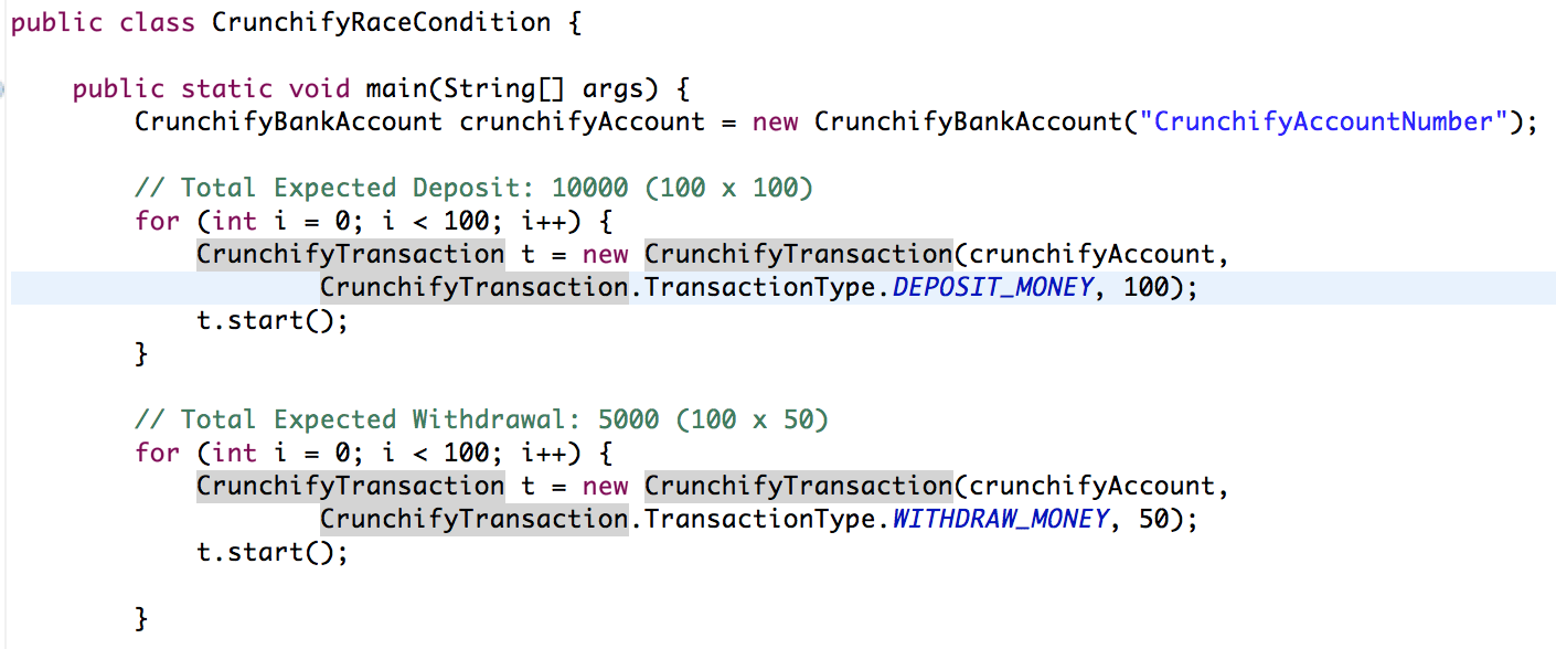 Java Race Condtion Example by Crunchify.com