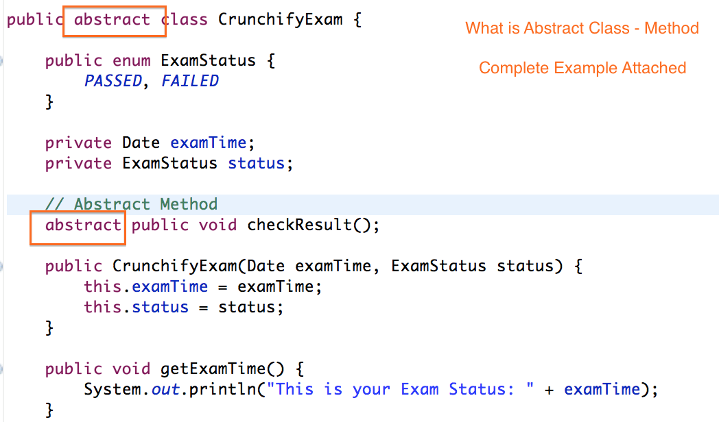 What is Abstract Class - Method - Crunchify Tips
