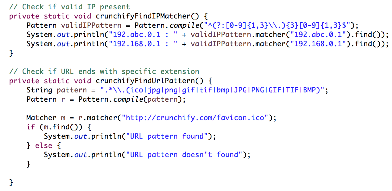 Crunchify Java Regular Expression Tutorial