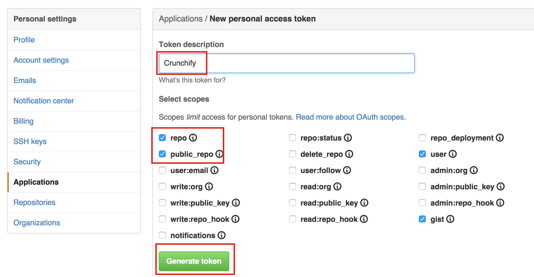 Crunchify tips on Github Basic Authentication