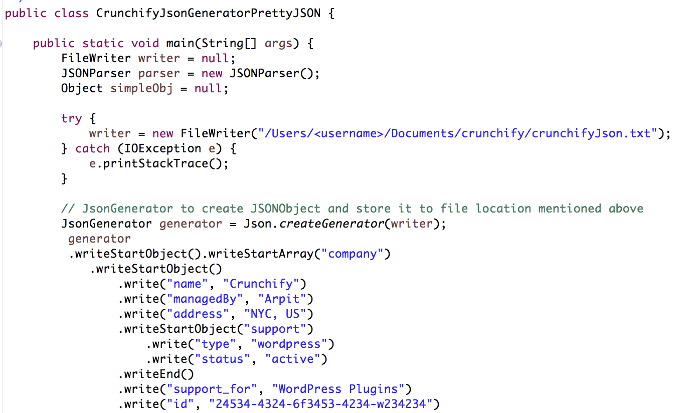 JsonGenerator and PreetyJSON output