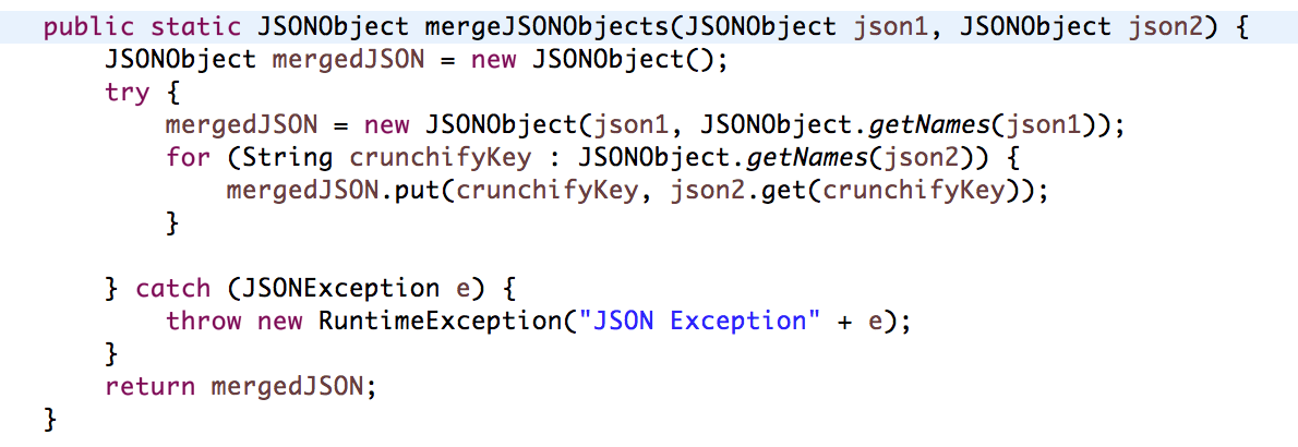 Merge Two JSON Objects Utility by Crunchify