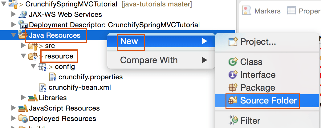Create Source Folder in Eclipse - Crunchify