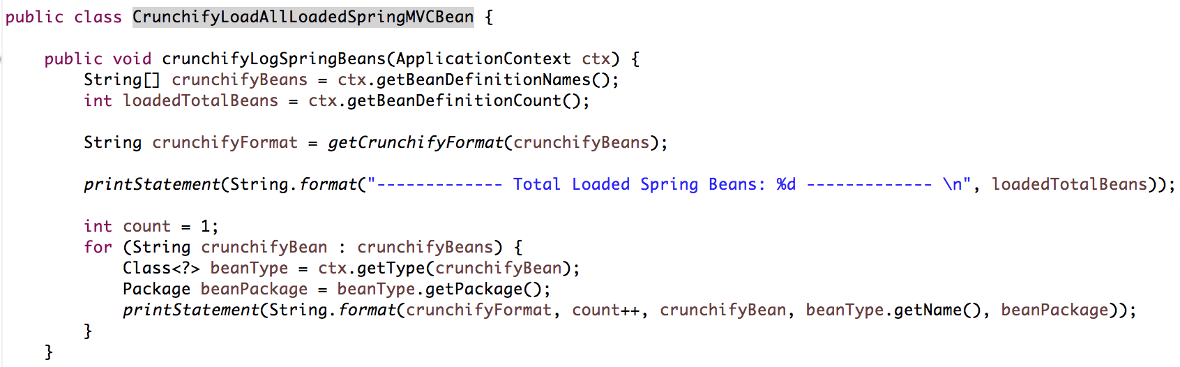 Crunchify - How to Load all Spring Beans