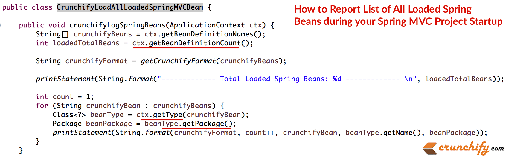 how-to-report-list-of-all-loaded-spring-beans-during-your-spring-mvc-project-startup