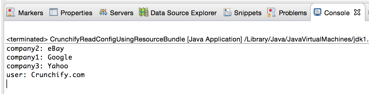 ResourceBundle Result