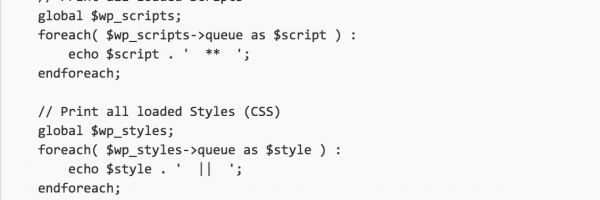 How to Print all Loaded Java Scripts and CSS Stylesheets $handle for Your WordPress blog?