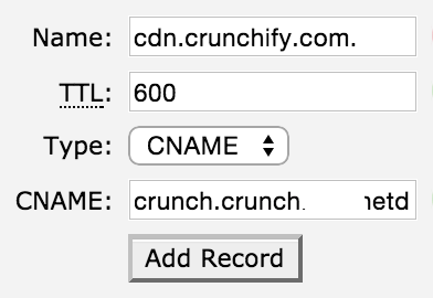 Crunchify CDN setting Steps