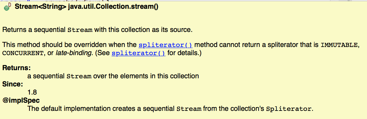 Java 8 Stream API