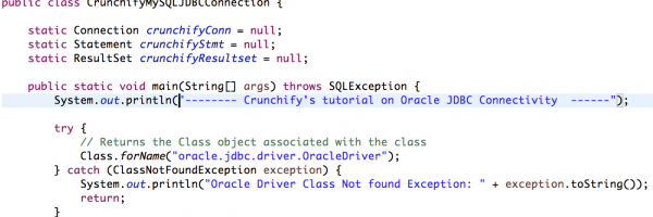 Simple Oracle Database JDBC Connect and ExecuteQuery Example in Java