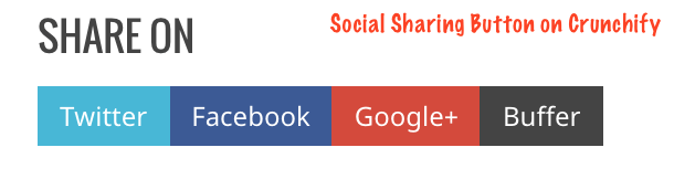Social Sharing Button on Crunchify