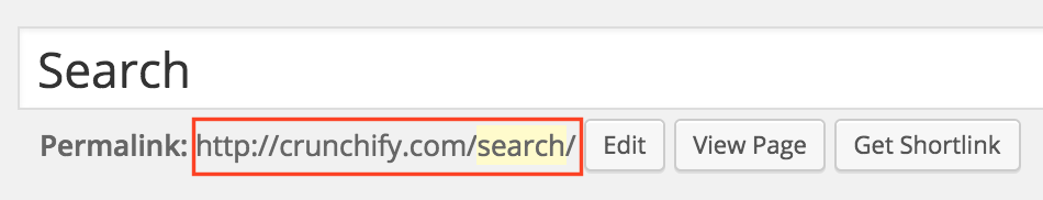 WordPress Create Search Page