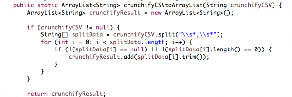 How to Read and Parse CSV (Comma Separated Values) File to ArrayList in Java using Split Operation?