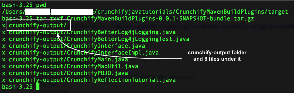 maven assembly plugin - verify result - crunchify