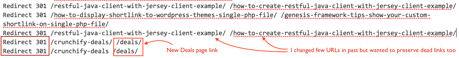 HTTP 301 Redirection in htaccess file - Fix WordPress 404 Error