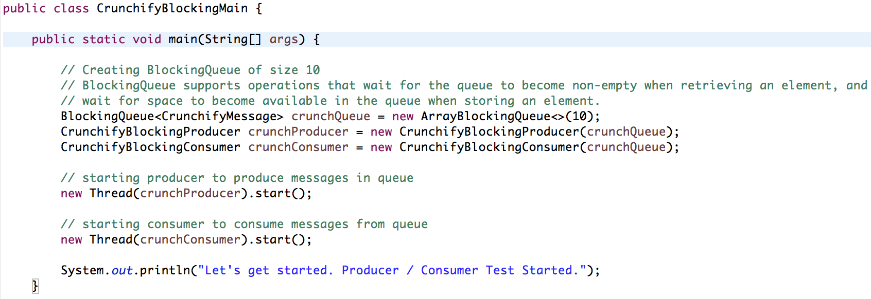 Java Blocking Queue Example - Crunchify Tips