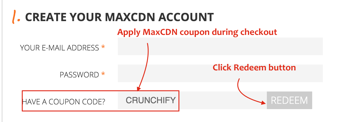 Provide MaxCDN coupon - CRUNCHIFY for 25% off