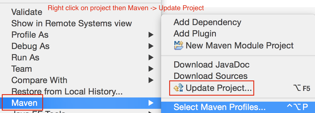 Maven - Update Project - Crunchify Tips