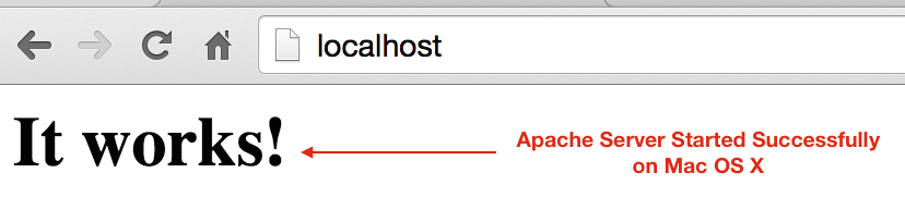 Apache Started successfully