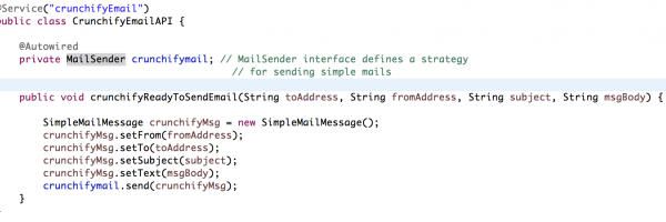 Spring MVC 4.1.X – Simple way to Send an Email using org.springframework.mail. javamail.JavaMailSenderImpl