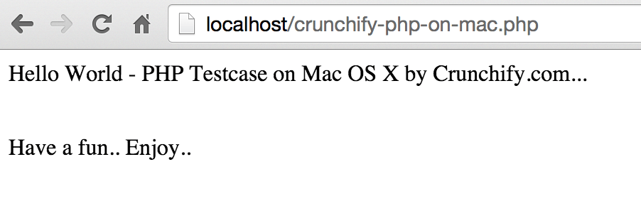 Run php Successfully on Mac OS X using apache httpd