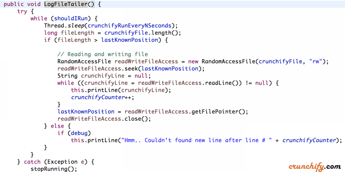 Log File Tailer (tail -f) implementation in Java – Best way to tail any file programmatically