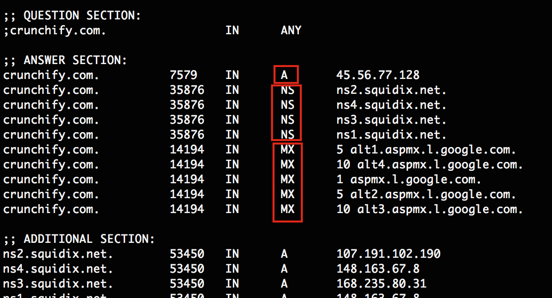 Best way to get any Domain's Zone Records, MX and Name Server in Java using Dig command